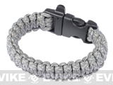 "Evike.com Survival Paracord KING Cobra Bracelet w/ QD Whistle Buckle - (ACU / 7.5"")"