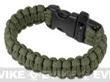 "Evike.com Survival Paracord KING Cobra Bracelet w/ QD Whistle Buckle - (OD Green / 7.5"")"