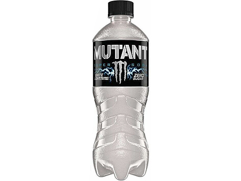 Monster Energy MUTANT Energy Enhanced Soft Drink (Flavor: White Lightning / Zero Sugar)