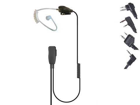 Code Red Headsets Recruit One-Wire Lapel Microphone w/ PTT (Connector: Kenwood 2-Pin)