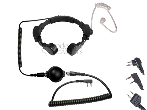 Code Red Headsets ASSAULT Tactical Throat Mic w/ PTT (Connector: Kenwood 2-Pin)