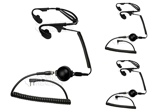 Code Red Headsets Battle Zero Modular Bone Conduction Headset w/ PTT (Connector: Kenwood 2 pin / Baofeng)