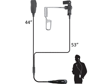 Code Red Headsets Investigator Two-Wire Microphone (Model: Motorola M Two-Pin)