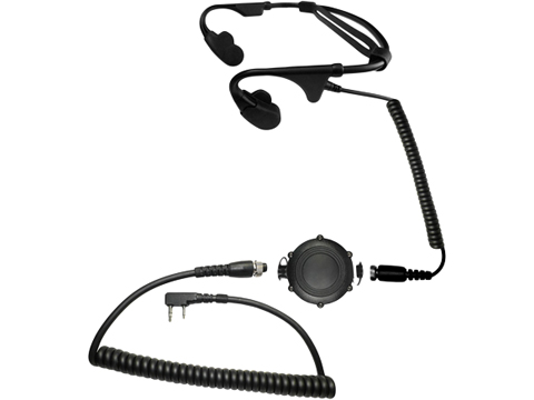 Code Red Headsets Battle Zero Modular Bone Conduction Headset w/ Waterproof PTT (Connector: Kenwood 2 Pin / Baofeng)