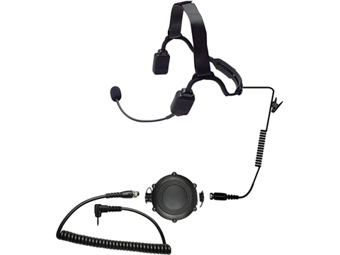 Code Red Headsets Tactical Bone Conduction Modular Headset w/ Waterproof PTT (Connector: Kenwood 2 Pin / Baofeng)