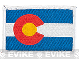 Evike.com Tactical Embroidered U.S. State Flag Patch (State: Colorado The Centennial State)