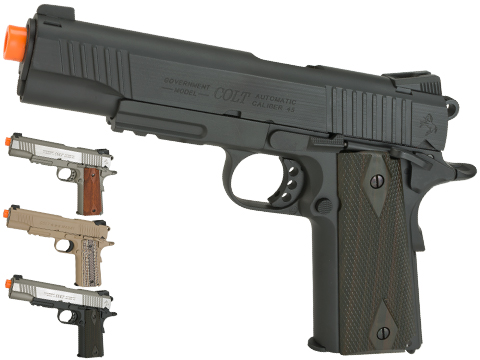 (NEW YEAR'S EPIC DEAL!!!) Colt Licensed 1911 Tactical Full Metal CO2 Airsoft Gas Blowback Pistol by KWC (Model: Stainless Railed)