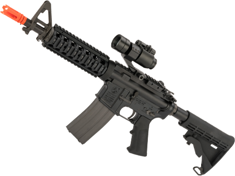 GHK Colt Licensed M4A1 RIS Gas Blowback Airsoft Rifle by Cybergun (Length: 10.5)