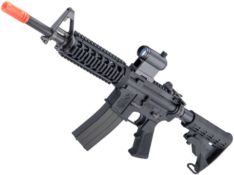 GHK Colt Licensed M4A1 V2 RIS Gas Blowback Airsoft Rifle by Cybergun (Length: 12.5)