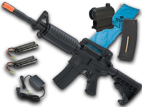 Go Airsoft Package Colt Licensed Sportsline M4 AEG by Cybergun (Model: M4A1)
