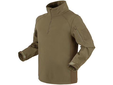 Condor Patrol 1/4 Zip Soft Shell Top (Color: Tan / Small)