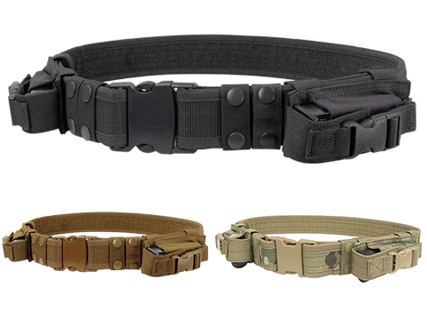Condor Tactical Pistol Belt w/ Mag Pouches (Color: Black)
