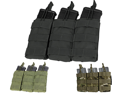 Condor MOLLE Pouches - Tactical Open Top Triple AR / M4 / M16 Mag Pouch