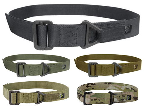 Condor Outdoor Forged Steel Tactical Riggers Belt (Color: Black / Medium - Large)