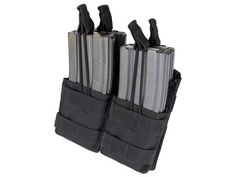 Condor Tactical Open Top Double Stacker AR15 / M4 / M16 / 5.56 NATO Magazine Pouch (Color: Black)