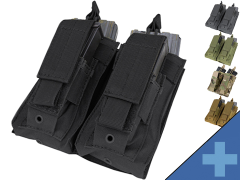 Condor MOLLE Double Kangaroo M16 & Pistol Mag Pouch (Color: Black)