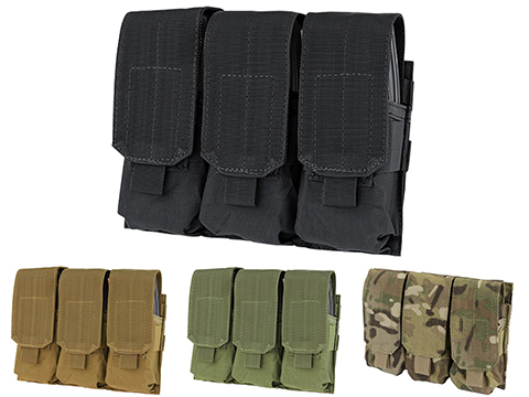 Condor Triple M4 / G36 MOLLE Ready Magazine Pouch (Color: Black)