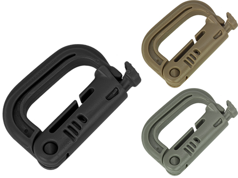 D-Ring for MOLLE / Webbing Vest, Belt and Harness by Matrix / Condor (Color: Black)
