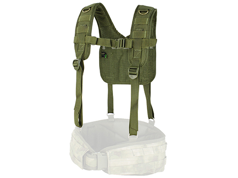 Condor MOLLE H-Harness (Color: OD Green)