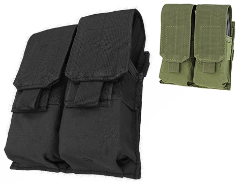 Condor Modular MOLLE Ready Tactical Double M4 M16 Magazine Pouch (Color: Black)