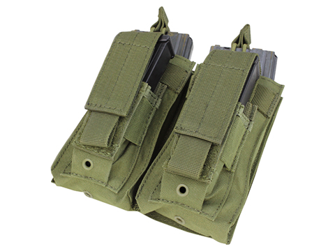 Condor MOLLE Double Kangaroo M16 & Pistol Mag Pouch (Color: OD Green)