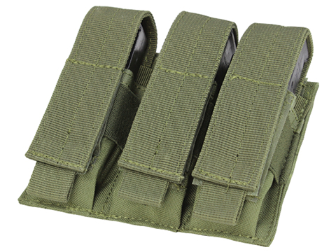 Condor MOLLE Triple Pistol Magazine Pouch (Color: OD Green)