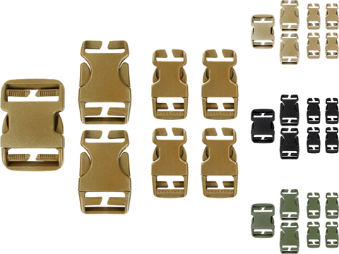 Condor Replacement Buckle Set for Vests / Plate Carriers / Harnesses / Belts (Color: Coyote Brown)