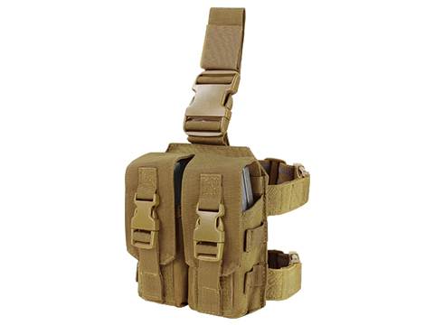 Condor Drop Leg M4 Mag Pouch (Color: Coyote Brown)