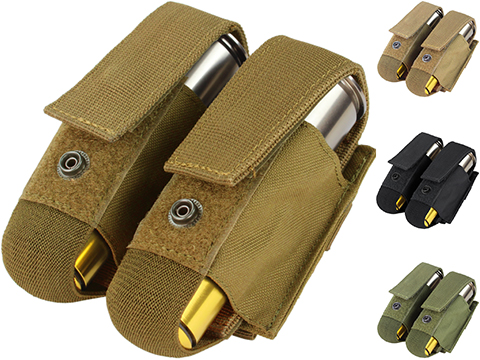 Condor Tactical Double 40mm Grenade Pouch (Color: Coyote Brown)
