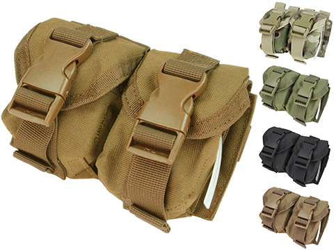 Condor Tactical Double Frag Grenade Pouch (Color: Coyote Brown)