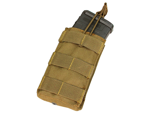 Condor Single Open Top Magazine Pouch for M4/M16 Magazines (Color: Coyote)
