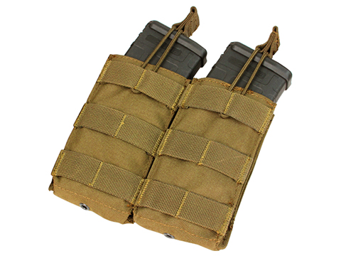 Condor Tactical Open Top Double AR15 / M4 / M16 / 5.56 NATO Magazine Pouch (Color: Coyote Brown)