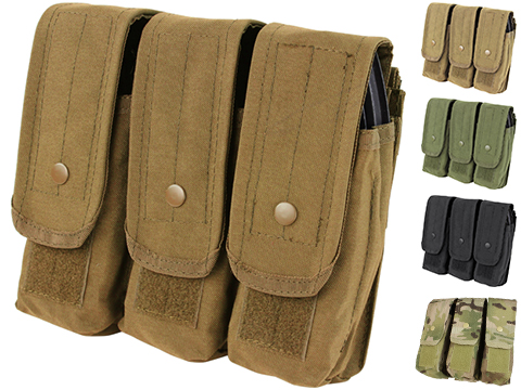 Triple M4 / AK MOLLE Ready Magazine Pouch by Condor (Color: Coyote)