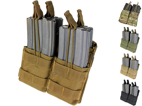 Condor Tactical Open Top Double Stacker AR15 / M4 / M16 / 5.56 NATO Magazine Pouch (Color: Coyote Brown)
