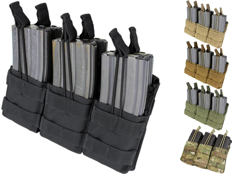Condor Tactical Open Top Triple Stacker AR15 / M4 / M16 / 5.56 NATO Magazine Pouch (Color: Coyote Brown)
