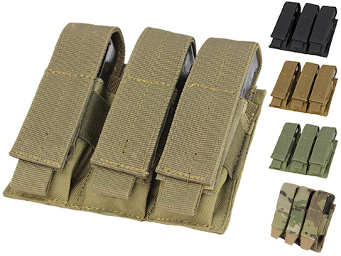 Condor MOLLE Triple Pistol Magazine Pouch (Color: Coyote)