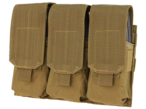 Condor Triple M4 / G36 MOLLE Ready Magazine Pouch (Color: Coyote Brown)