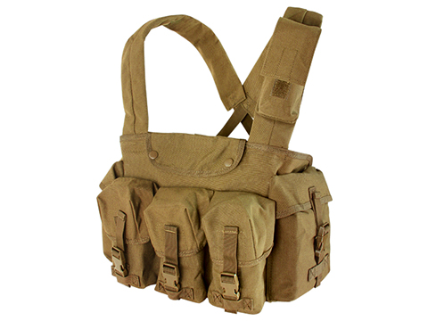 Condor Seven Pocket Tactical Chest Rig (Color: Coyote)