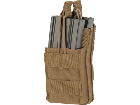 Condor Single M4 / M16 Open-Top Stacker Mag Pouch (Color: Coyote Brown)