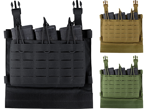 Condor LCS VAS Triple Magazine Panel for Vanquish Plate Carriers (Color: Black)