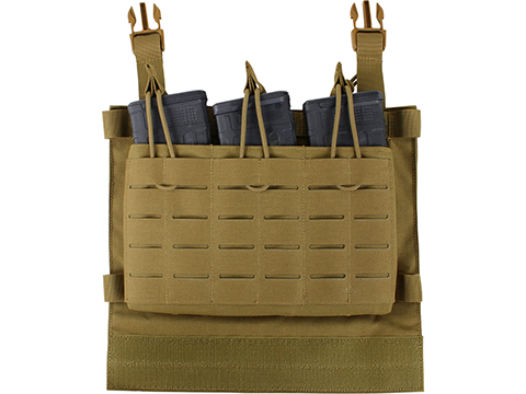 Condor LCS VAS Triple Magazine Panel for Vanquish Plate Carriers (Color: Coyote Brown)