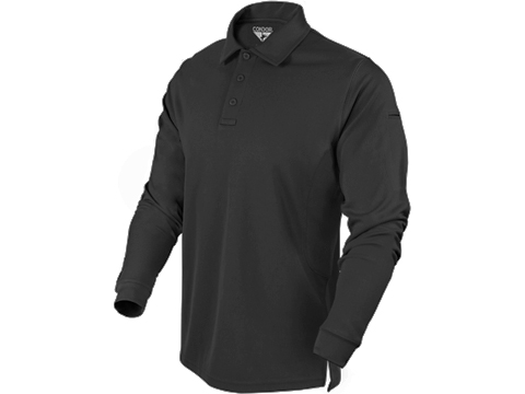 Condor Performance Tactical Long Sleeve Polo (Color: Black / XX-Large)