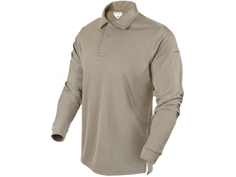 Condor Performance Tactical Long Sleeve Polo (Color: Sand / X-Large)