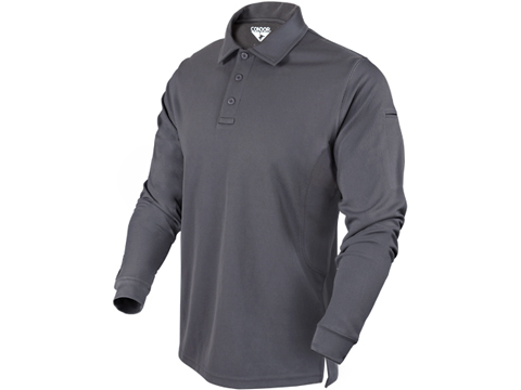 Condor Performance Tactical Long Sleeve Polo (Color: Graphite / Large)