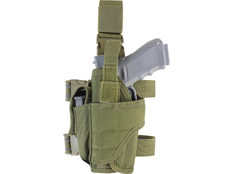 Condor Tornado Universal Tactical Thigh / Drop Leg Holster (Color: Olive Drab / Left Hand)