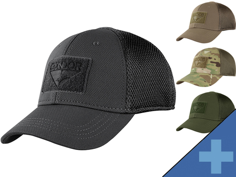 Condor Flex Tactical Mesh Cap (Color: Black / Small/Medium)