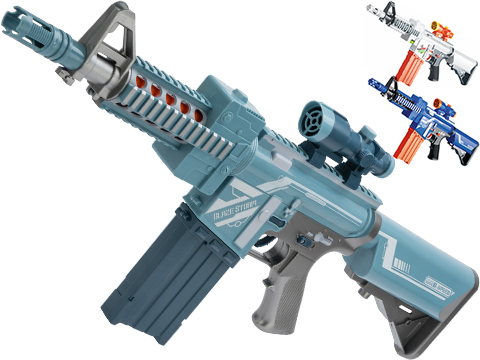 Blaze Storm Foam Blaster Semi Auto Soft Dart Rifle (Model: Blue)