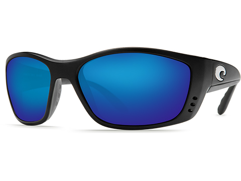 Costa Del Mar - Fisch Polarized Sunglasses (Color: Matte Black / 580g Blue Mirror Lens)