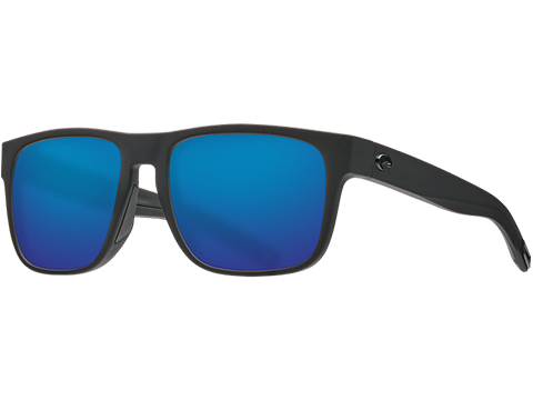 Costa Del Mar - Spearo Unisex Polarized Sunglasses (Color: Matte Black / 580g Blue Mirror)