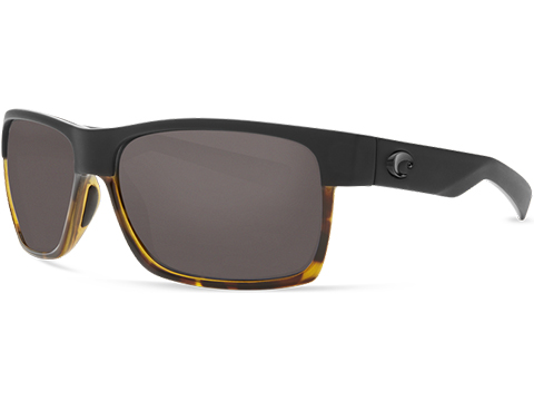 Costa Del Mar - Half Moon Polarized Sunglasses (Color: Matte Black / Shiny Tortoise / 580p Gray)